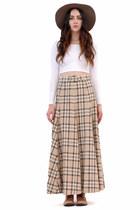 Lauren Plaid Belted Skirt