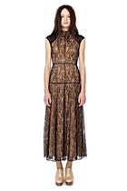 SHAKUHACHI Lace Black Maxi Dress