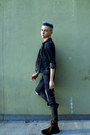 Guess-boots-diy-distressed-h-m-jeans-denim-calvin-klein-jacket