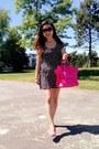 Hot-pink-celine-bag-black-dress-hot-pink-h-m-pumps
