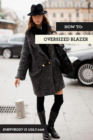charcoal gray streetstyle blazer