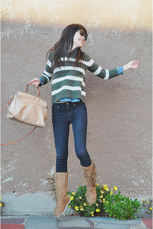 Koolaburra boots - JCrew sweater