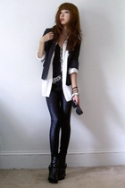 vintage blazer - Gap - bailey 44 top - Zara belt - -