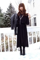 vintage dress - H&M jacket - payless