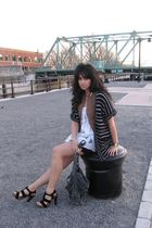 black Betsey Johnson shoes - gray Urban Outfitters purse - white Urban Outfitter