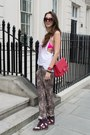 Lof-london-t-shirt-red-chanel-bag-anna-karin-karlsson-sunglasses