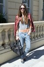 Red-forever-21-jacket-balenciaga-bag-anna-karin-karlsson-sunglasses