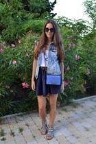 Chanel bag - River Island sandals - River Island skirt