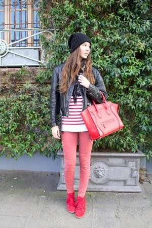 vintage jacket - Topshop jeans - Celine bag - Isabel Marant sneakers