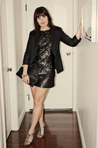 black sequined asoscom dress - black Elizabeth and James blazer