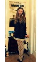 black romwe dress - peach Forever 21 stockings