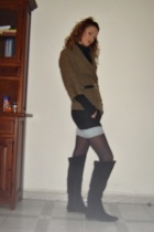 Zara boots - pull&bear sweater - H&M belt