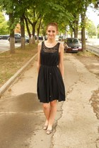 black H&M dress - black lolipops flats