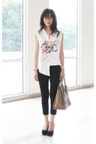Mood & Closet top - Celine bag - Mood & Closet pants - Aldo wedges