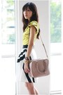 Black-reiss-skirt-neutral-prada-bag-lime-green-karen-millen-top