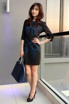 blue Mood & Closet dress - navy Louis Vuitton bag