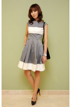 black christian dior bag - heather gray white princess kate spade dress