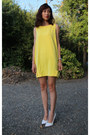 Yellow-ribbon-summer-mood-closet-dress-white-pointed-formal-zara-heels