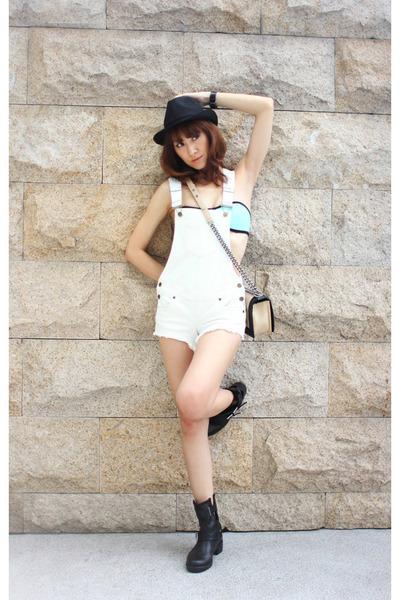 Zara boots - Chanel bag - Triangl swimwear - denim Guess jumper
