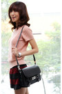 Black-satchel-leather-proenza-schouler-bag-crimson-zara-shorts