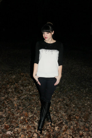 Target sweater - just fab boots - Loft jeans