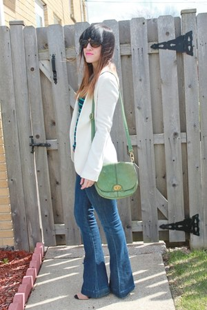 piperlime blazer - 7 for all mankind jeans - Loft top - Zara heels