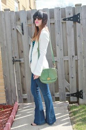 piperlime blazer - 7 for all mankind jeans - Loft top - Zara heels