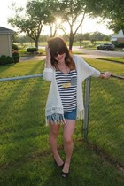 Gap shirt - Nordstrom shirt - Gap shorts - Sole Society wedges