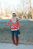 Dolce Vita boots - Old Navy jeans - piperlime sweater - just fab purse