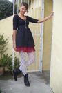 Black-mrprice-dress-white-lace-hand-me-downs-stockings-black-mrprice-boots-