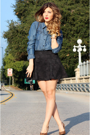 Guess top - Zara skirt - Forever 21 pumps
