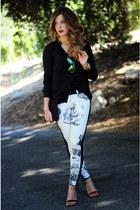 Zara blouse - Hudson jeans - Steve Madden sandals