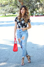 Light-blue-zara-jeans-red-rebecca-minkoff-bag-navy-zara-top