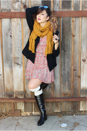 Forever 21 scarf - Aldo boots - Guess coat