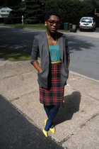 Victorias Secret blazer - Macys top - Goodwill belt - Goodwill skirt - stuart we