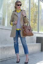 Jcrew blouse - Zara coat - Aritzia shirt