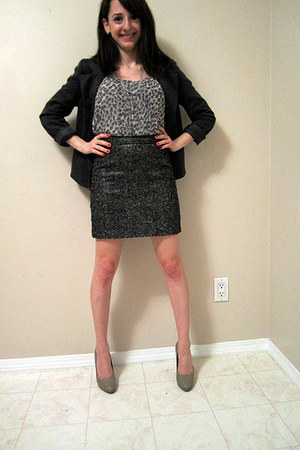 gray Gap skirt - dark gray Forever 21 blazer