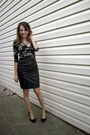 Black-persunmall-dress-silver-aldo-necklace-black-topshop-skirt