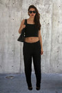 Black-louis-vuitton-bag-black-forever-21-heels-black-sfera-pants