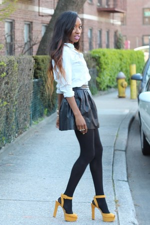 H&amp;M shirt - Zara heels - necessary clothing skirt