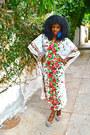 Red-floral-river-island-pumps-white-vintage-dress