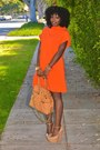 Carrot-orange-isabella-oliver-dress-nude-giuseppe-zanotti-wedges