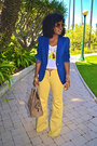 Yellow-level-99-jeans-navy-boyfriend-blazer-camel-celine-bag