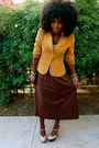 Brown-h-m-blazer-dark-brown-american-apparel-dress-nude-shoes