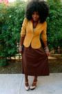 Brown-h-m-blazer-dark-brown-american-apparel-dress-nude-shoes