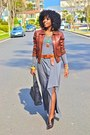 Heather-gray-jersey-dress-tawny-paul-joe-jacket