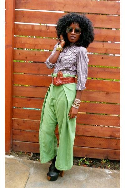 brown Armani Exchange belt - brown H&M shirt