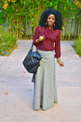 Black-miu-miu-cowboy-boots-black-chanel-bag-heather-gray-plaid-maxi-skirt