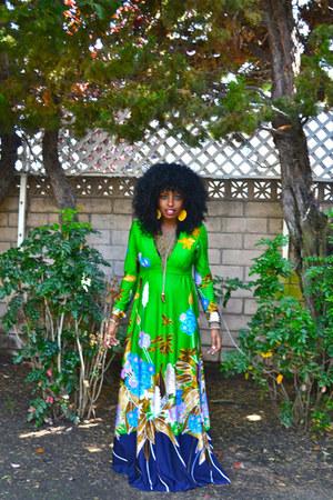 chartreuse vintage dress