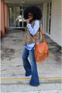 Blue-vintage-bell-bottom-jeans